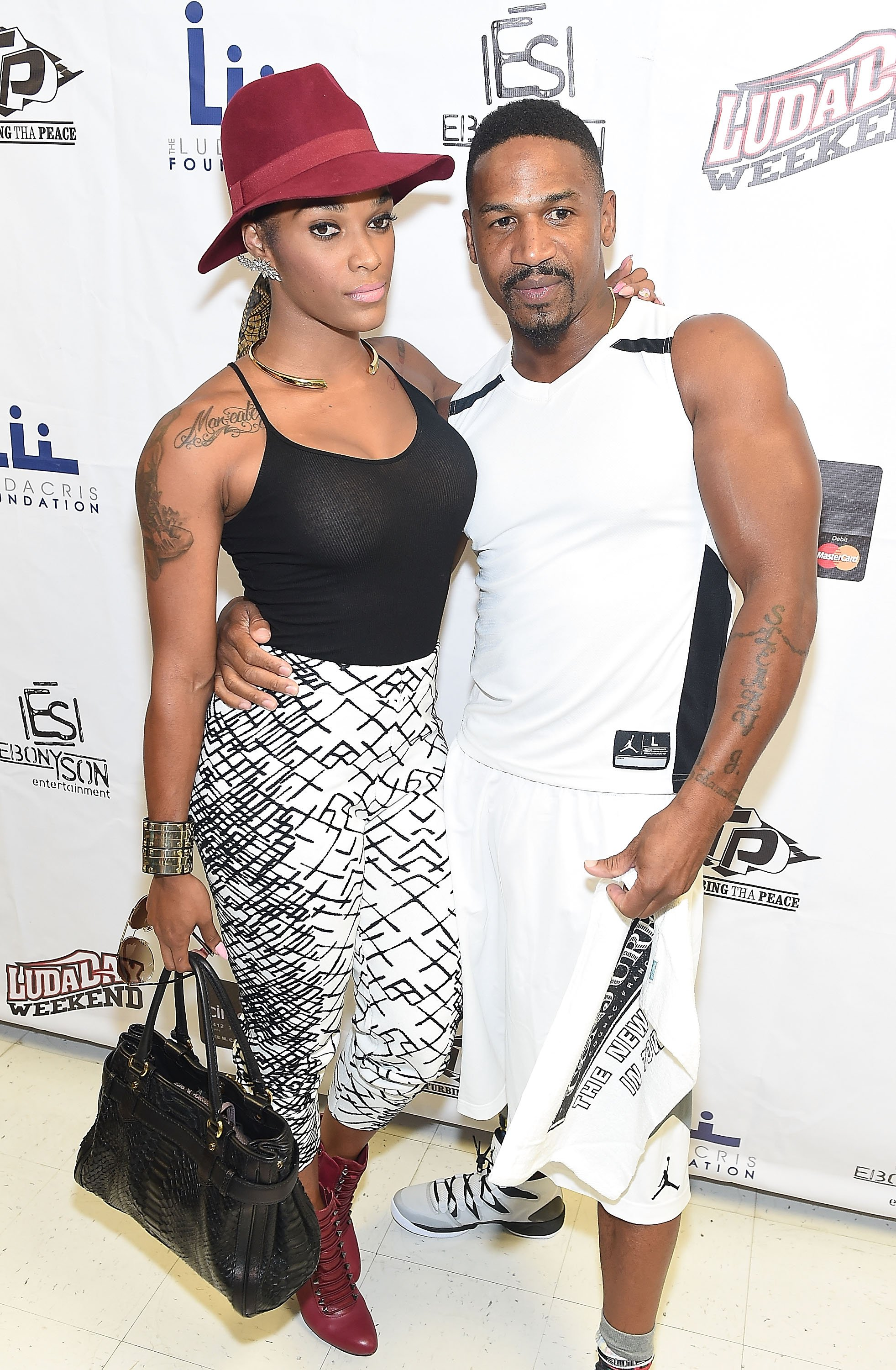 Love & Hip Hop Atlanta stars Joseline Hernandez and Stevie J during better days attending the LudaDay Celebrity Basketball Game at Georgia State University Sports Arena on August 31, 2014. | Source: Getty