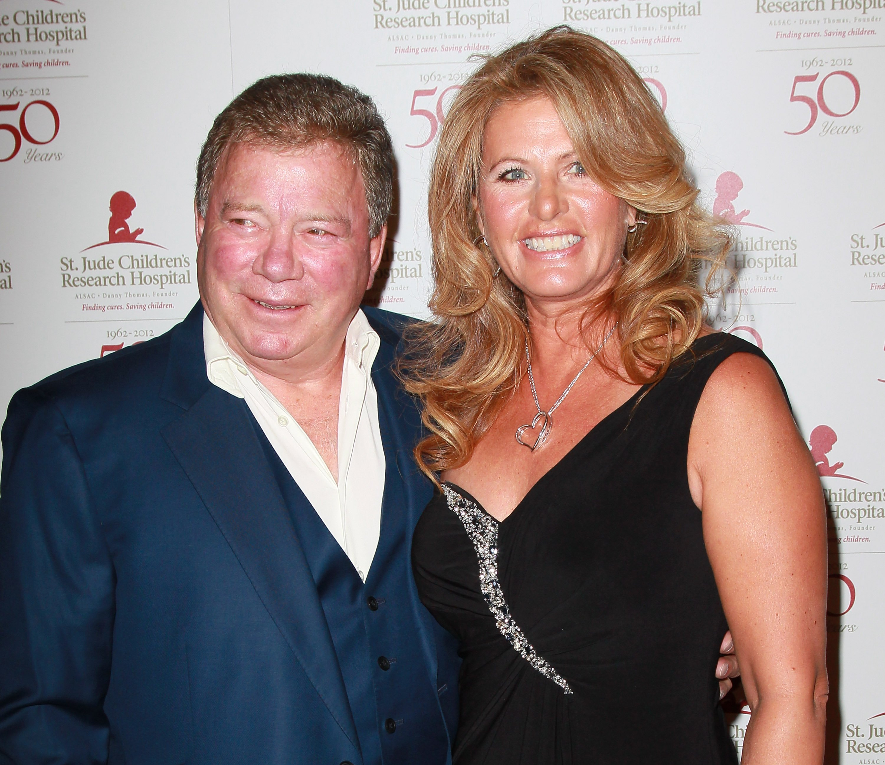 William Shatner (L) and wife Elizabeth Shatner attend the 50th anniversary celebration for St. Jude Children's Research Hospital at The Beverly Hilton hotel on January 7, 2012, in Beverly Hills, California. | Source: Getty Images.