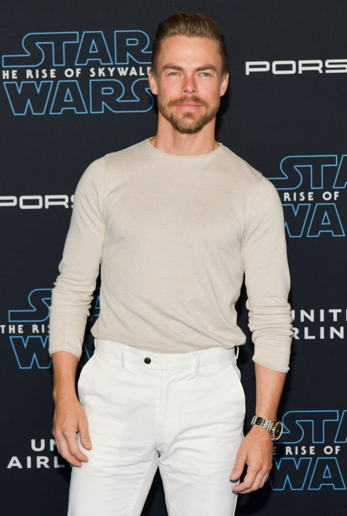 "Derek Hough attends the Premiere of Disney's ""Star Wars: The Rise Of Skywalker"" on December 16, 2019 in Hollywood, California. 