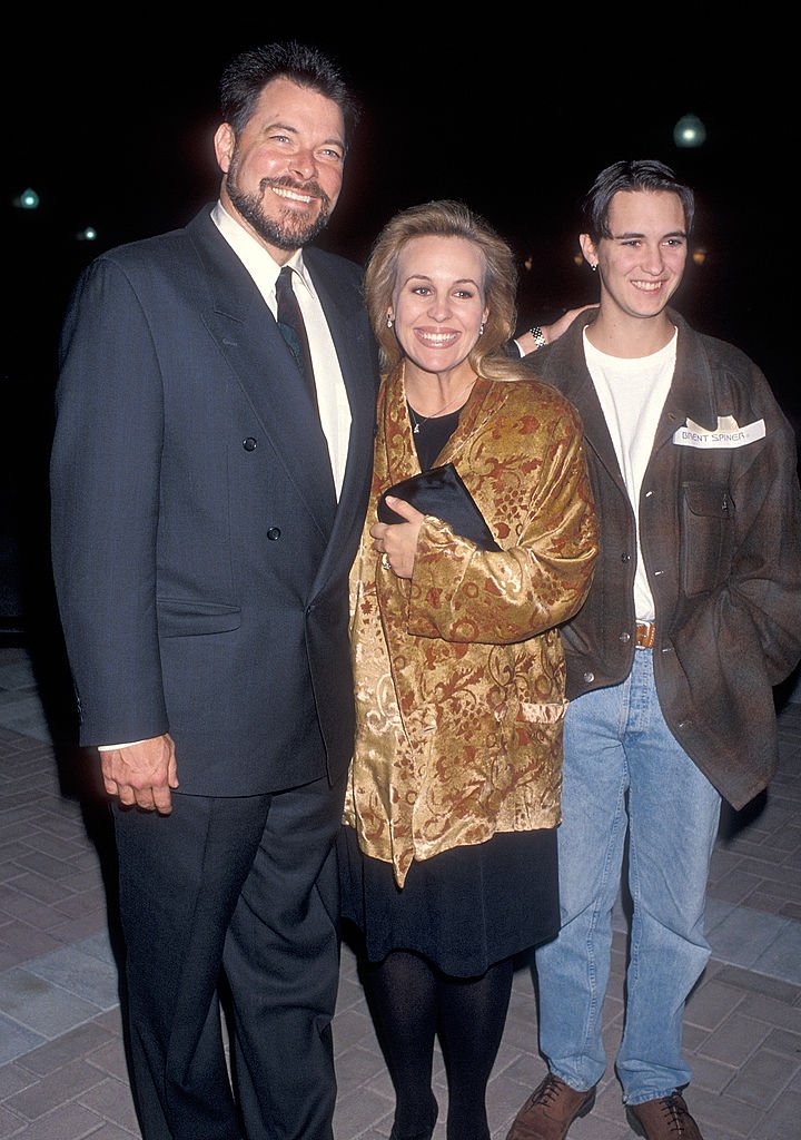 "Genie Francis and husband actor Jonathan Frakes and actor Wil Wheaton attend the Special Screening of the ""Star Trek: The Next Generation"" Series Finale ""All Good Things"" on May 19, 1994 