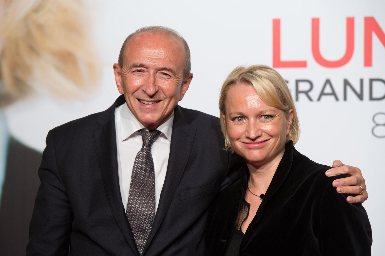 Gérard Collomb et sa femme Caroline Rougé | Photo : Getty Images
