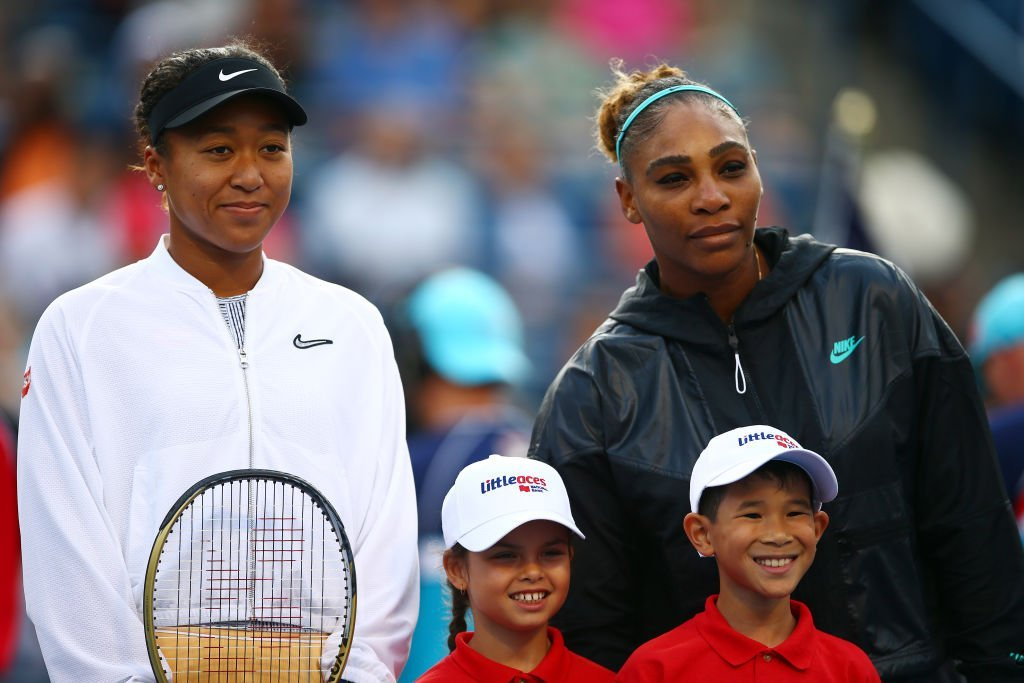 Naomi Osaka & Serena Williams pose before a quarterfinal match on Day 7 of the Rogers Cup in Toronto, Canada on Aug. 09, 2019.  Photo: Getty Images
