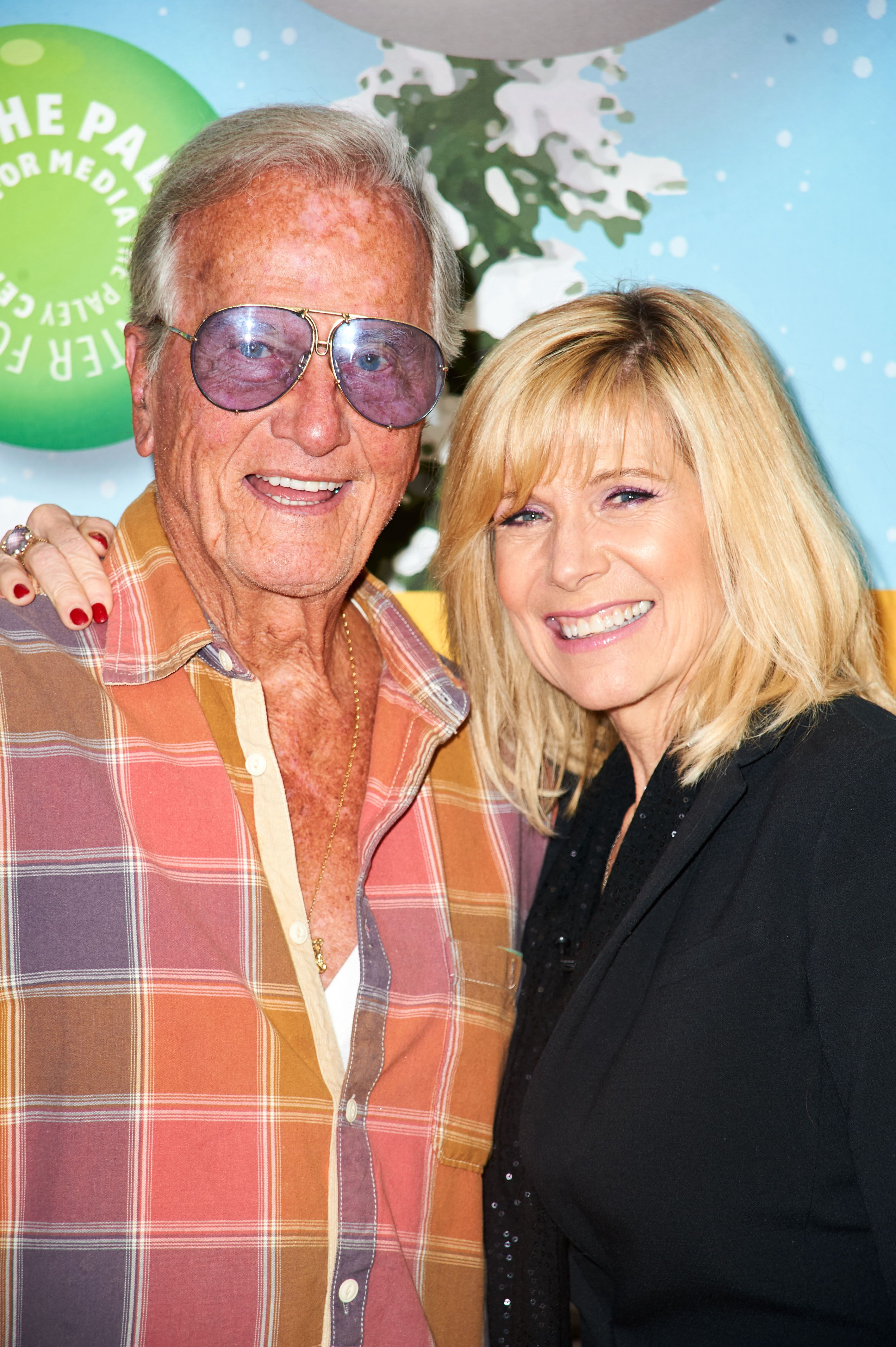 Pat Boone with father Pat Boone at The Paley Center Presents A Holiday Celebration With Debby Boone: You Light Up My Life 40th Anniversary Event in 2017 | Source: Getty Image
