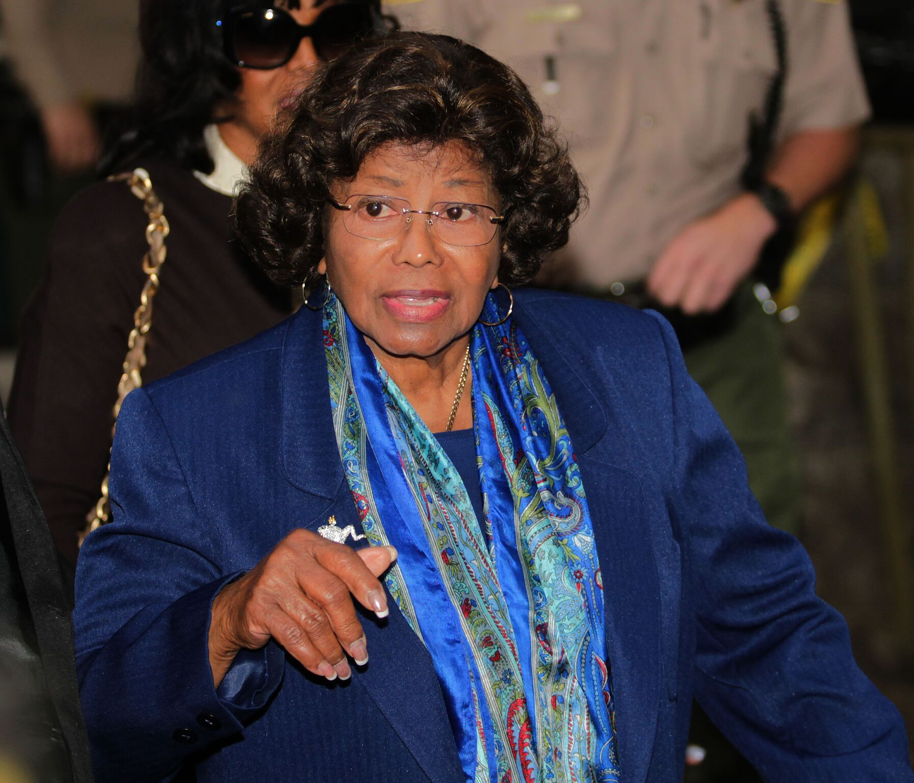 Katherine Jackson enters the Los Angeles County courthouse for the arraignment of Dr. Conrad Murray  | Getty Images