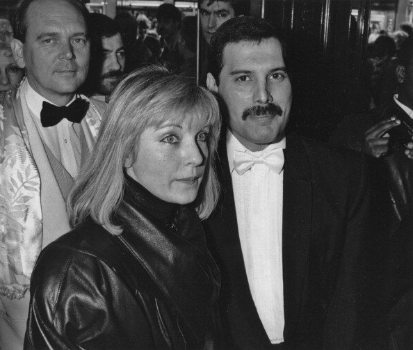 Freddie Mercury and Mary Austin at an after-party in London for 'Dave Clark's Time on April 9, 1986. | Photo: Getty Images