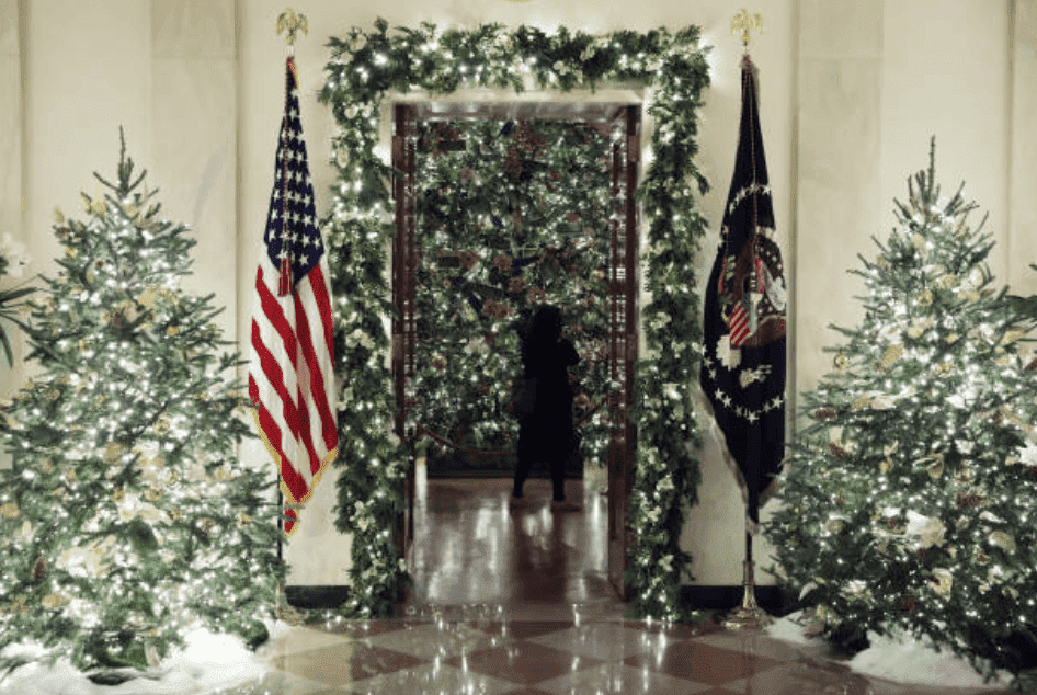 Christmas decorations picked out by Melania Trump for display in the Grand Foyer at the White House, on December 2, 2019 , Washington, DC | Source: Mark Wilson/ Getty Image