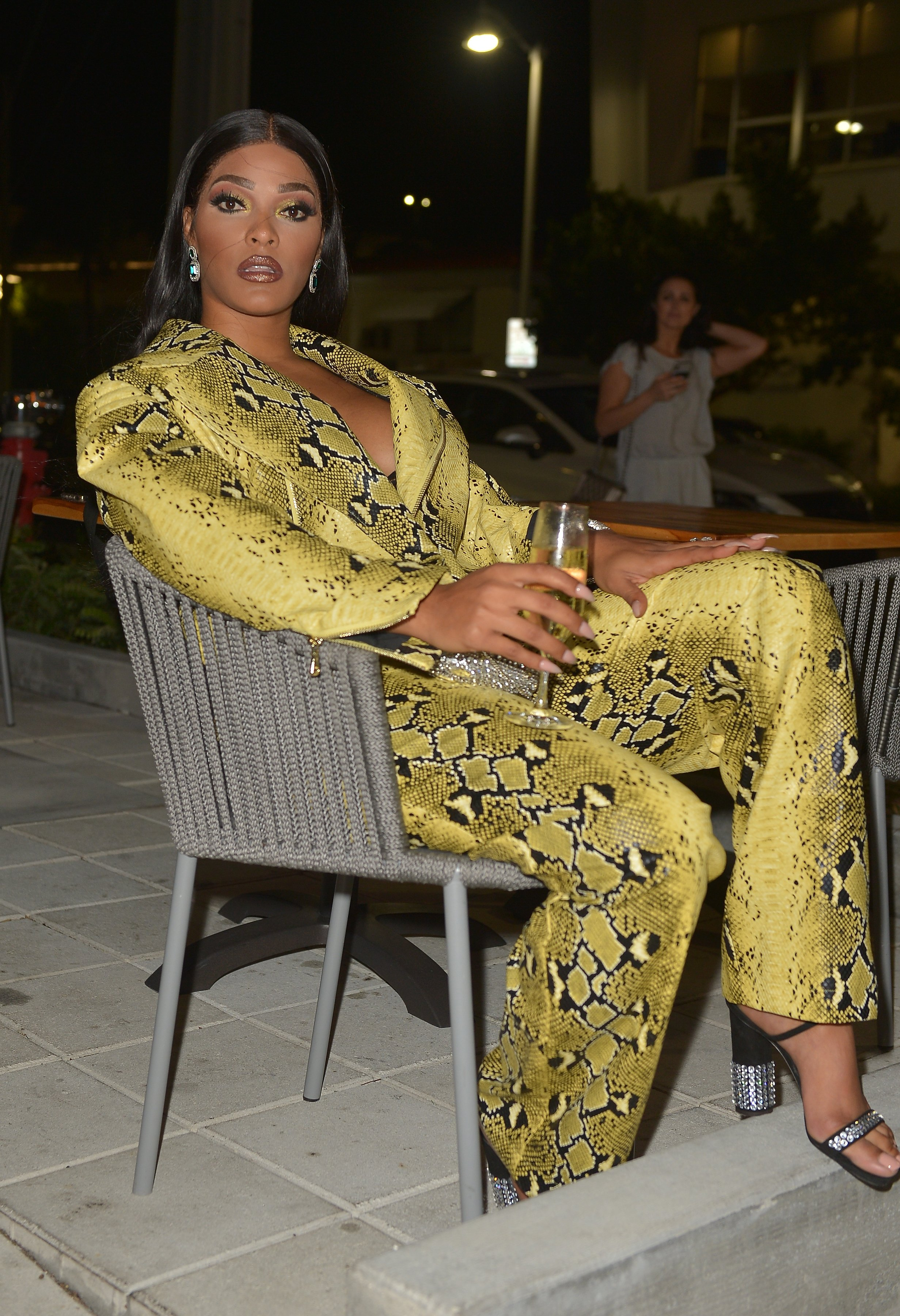 Joseline Hernandez at Delicious Raw restaurant on February 27, 2019 | Photo: Getty Images