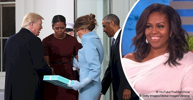 Michelle Obama was embarrassed by Melania Trump's gift but her husband Barak saved the day