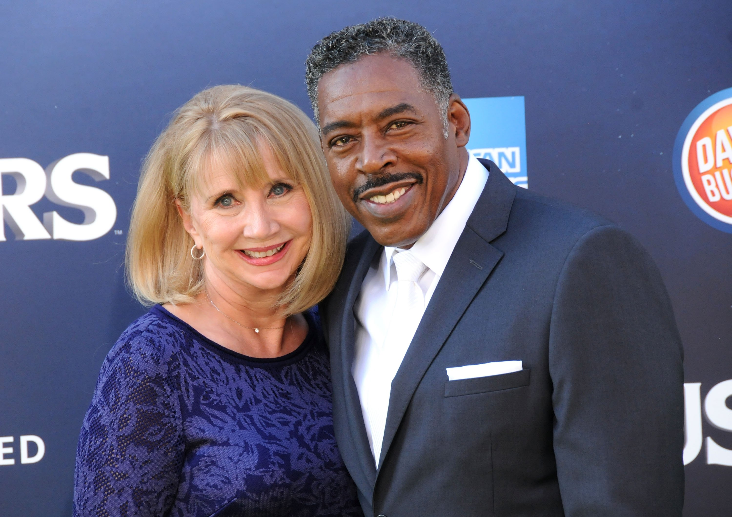 "Ernie Hudson and wife Linda Kingsberg attend the premiere of ""Ghostbusters"" on July 9, 2016, in Hollywood, California. 