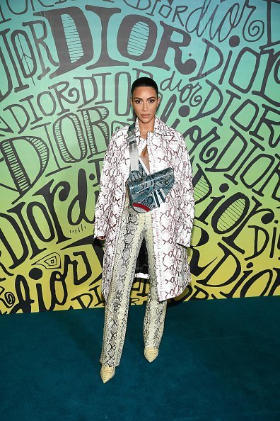 Kim Kardashian West attends the Dior Men's Fall 2020 Runway Show in Miami, Florida. | Photo: Getty Images