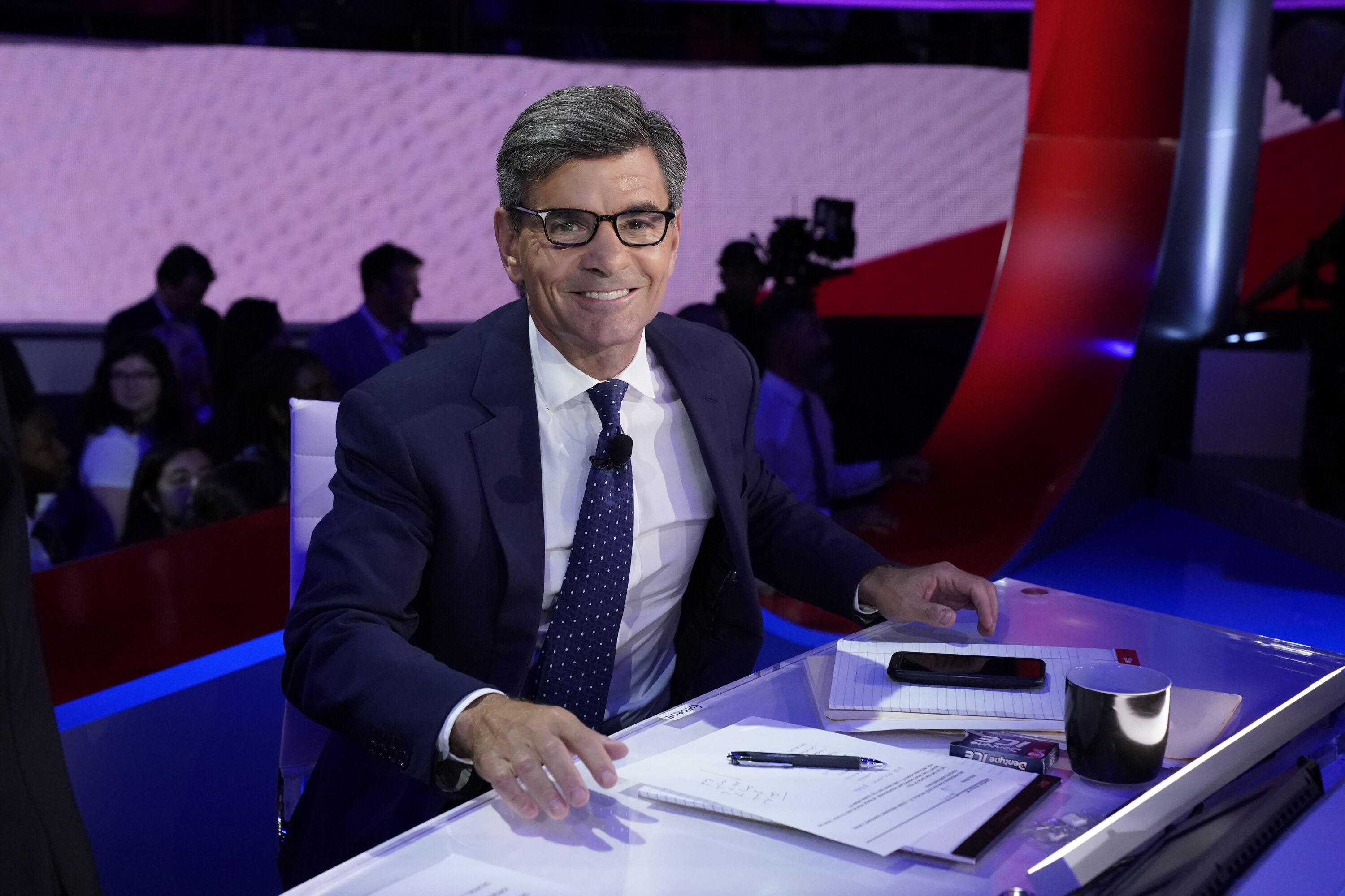 George Stephanopoulos moderate the Democratic debate from Texas Southern University's Health & PE Center in Houston, TX on Thursday, September 12 | Photo: Getty Images
