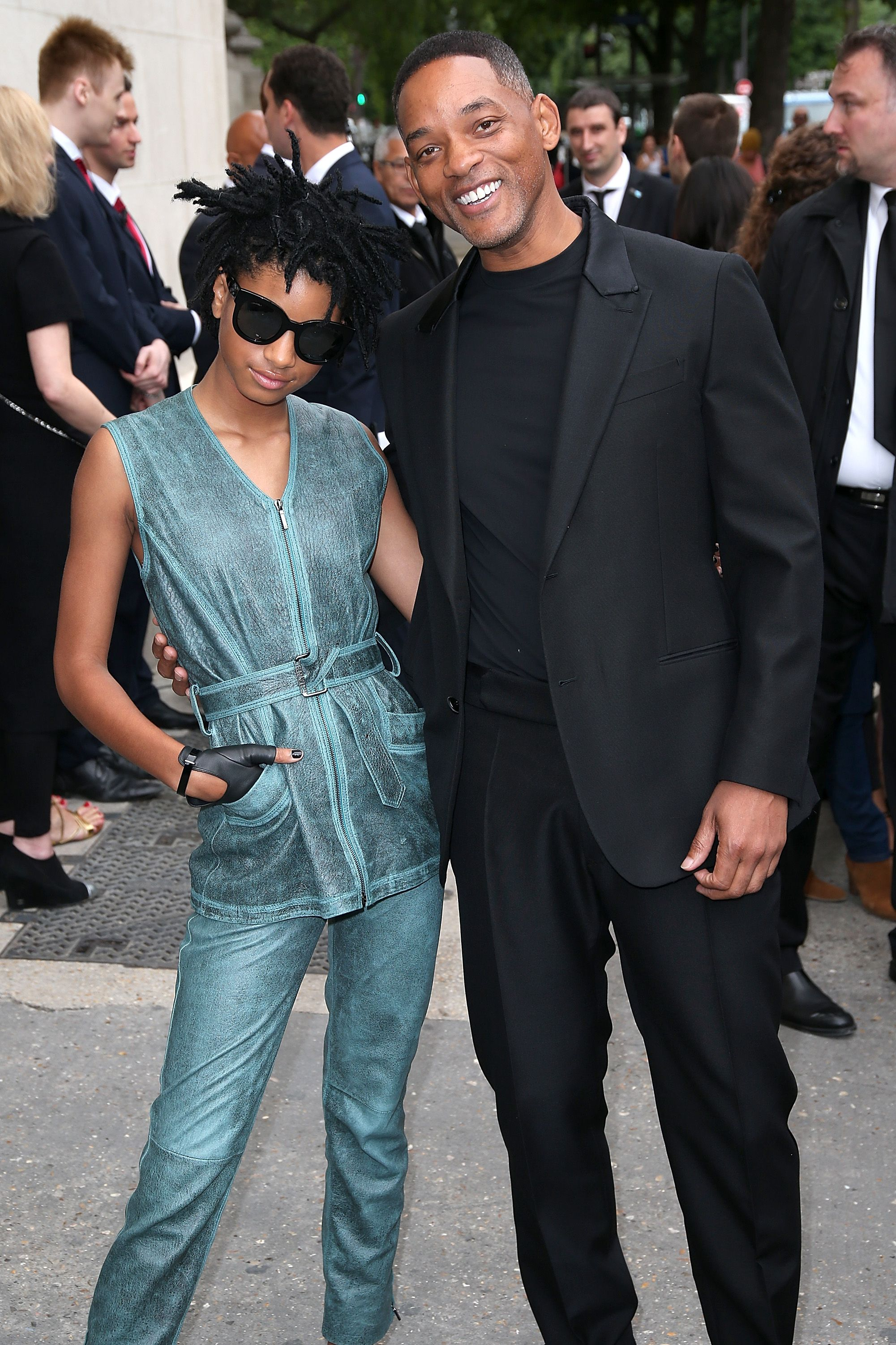 Willow and Will Smith at Paris Fashion Week on July 5, 2016 | Photo: Getty Images