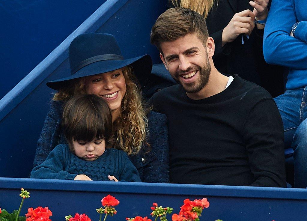 Milan Piqué, Shakira y Gerard Piqué.| Fuente: Getty Images
