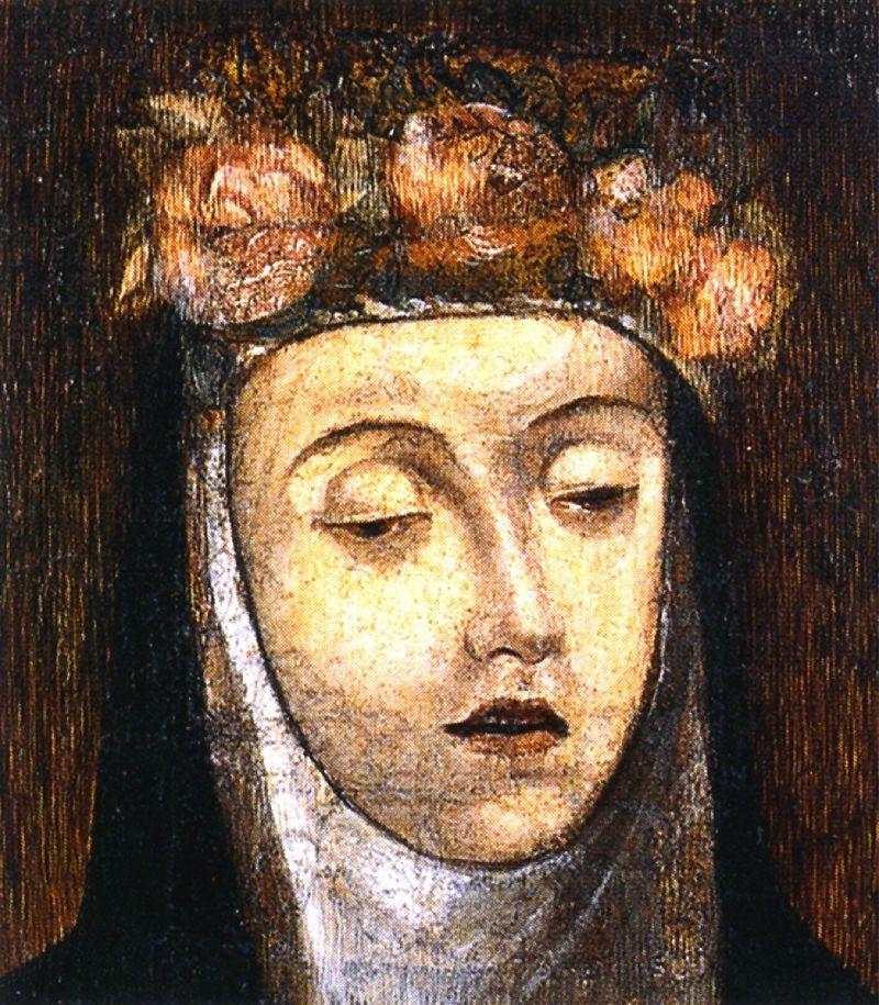 Retrato póstumo de Santa Rosa, lienzo del artista italiano Angelino Medoro.| Fuente: Wikipedia