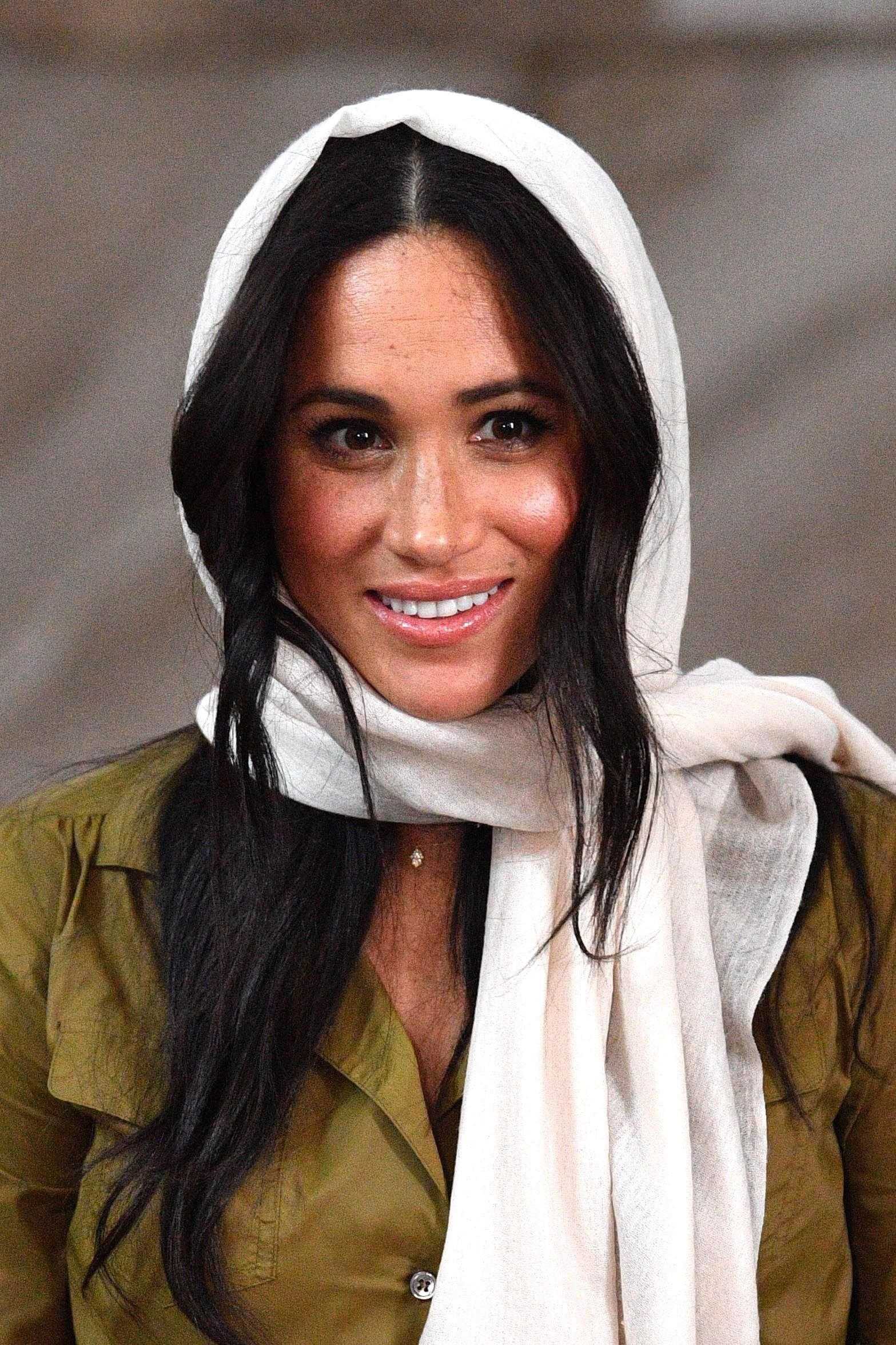 Meghan Markle visits Auwal Mosque on Heritage Day with Prince Harry, Duke of Sussex during their royal tour of South Africa on September 24, 2019 in Cape Town, South Africa.   Source: Getty Images