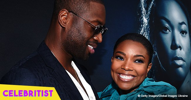 Gabrielle Union's husband shares video of him dancing with wife in white outfit in a shopping mall