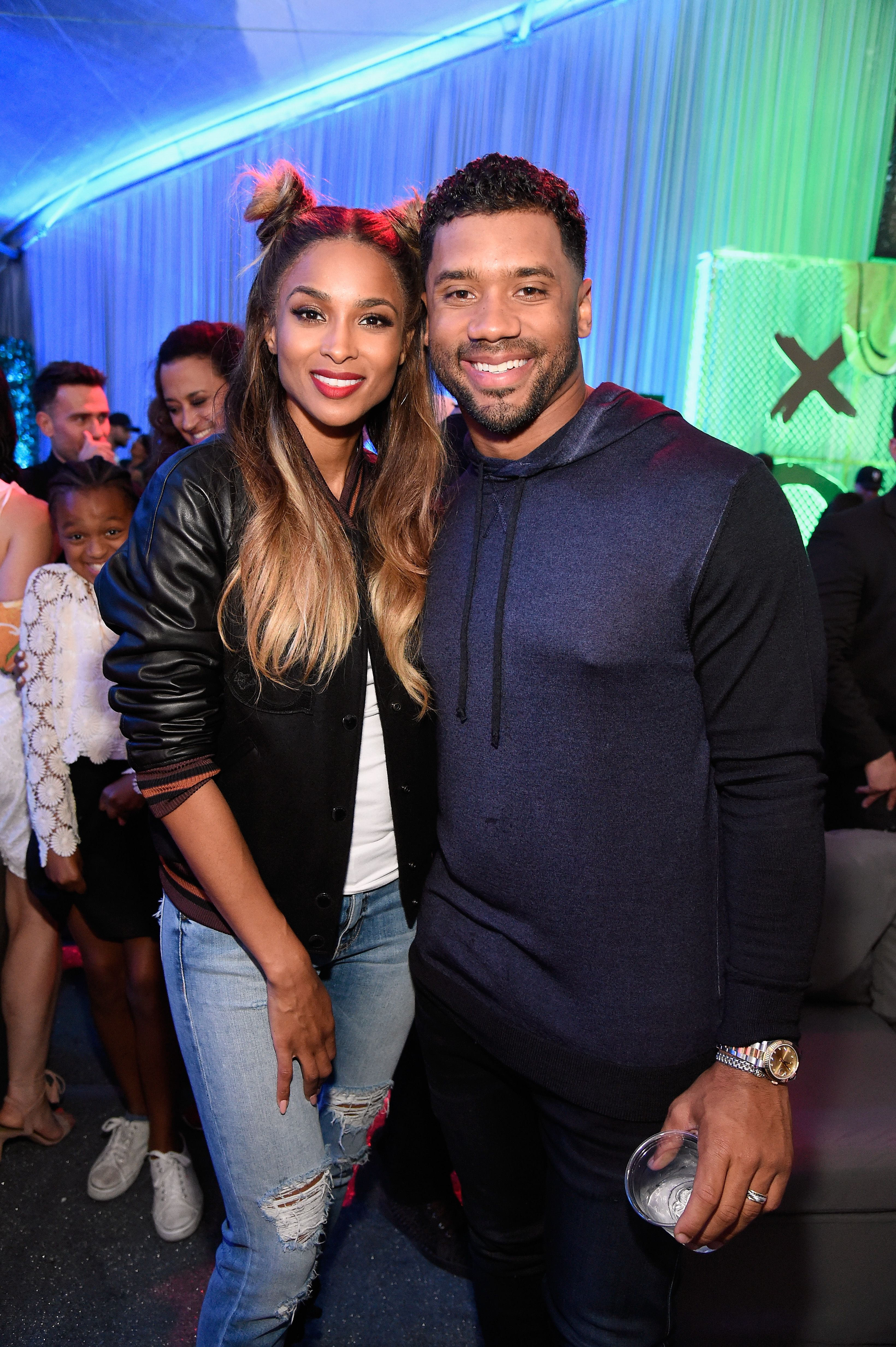 Ciara and football player Russell Wilson attend the Nickelodeon Kids' Choice Sports Awards in July 2016 | Photo: Getty Images