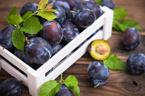 Plums in a crate. | Photo: Shutterstock