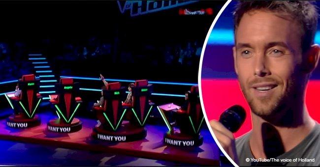 """Après n'avoir chanté que 5 mots, le candidat de """"The Voice"""" a fait tourner les chaises de tous les jurys"""