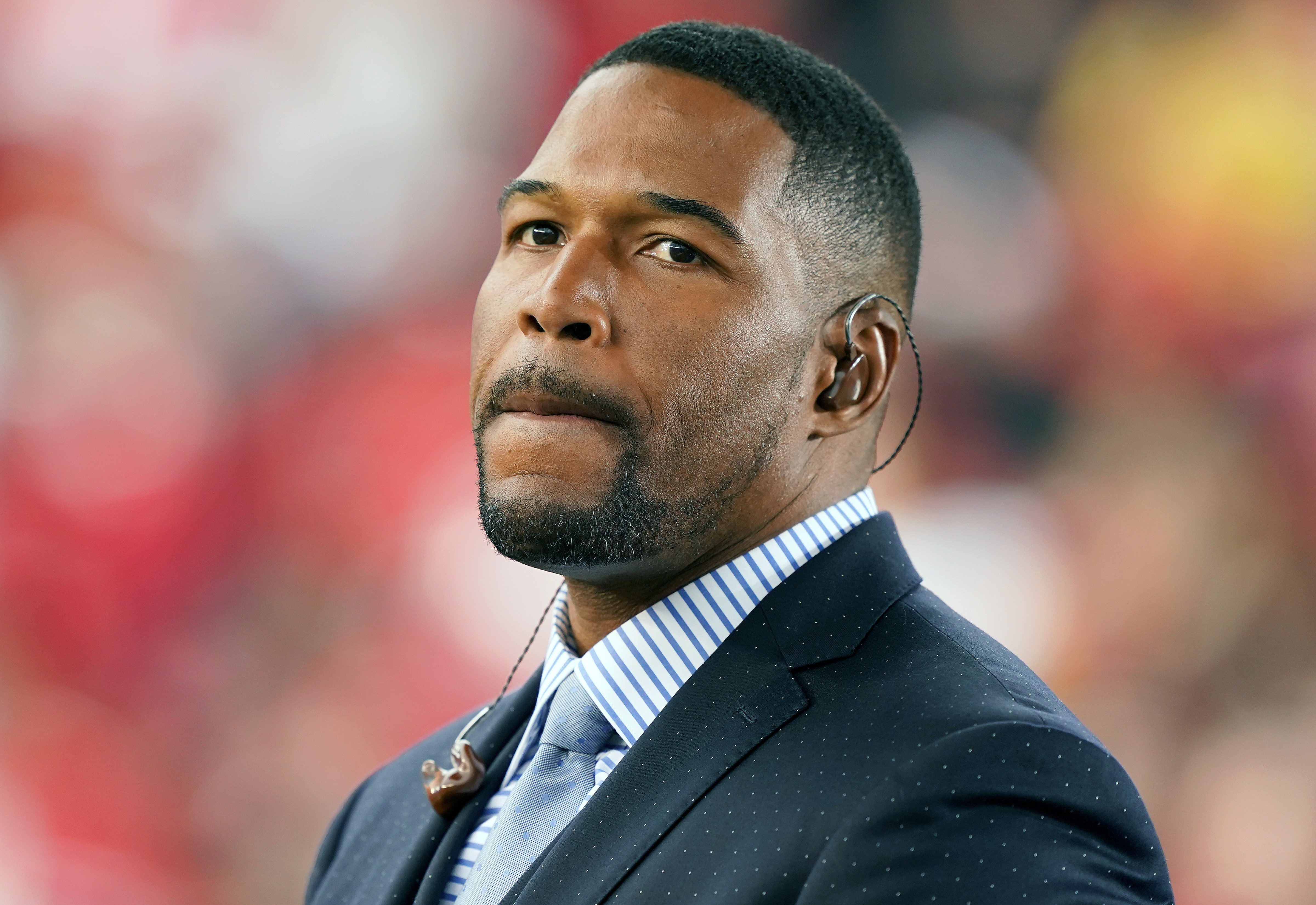 TV host Michael Strahan attends the NFC Championship game at Levi's Stadium in January 2020 in Santa Clara, California. | Photo: Getty Images