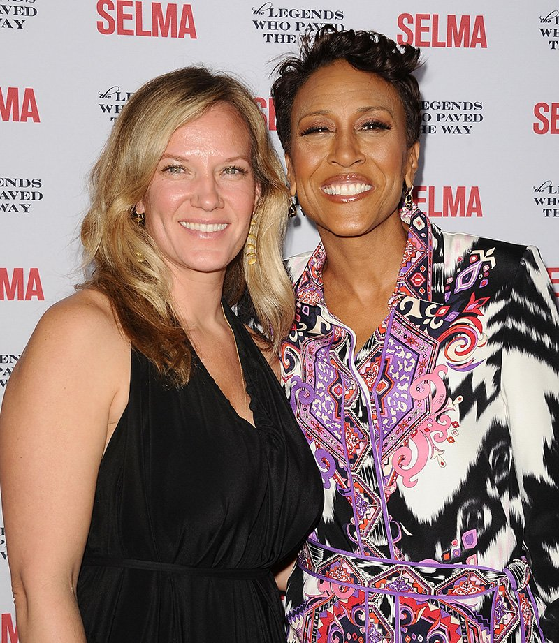"Amber Laign and Robin Roberts attend the ""Selma"" and the Legends Who Paved the Way gala at Bacara Resort on December 6, 2014 in Goleta, California. I Image: Getty Images."