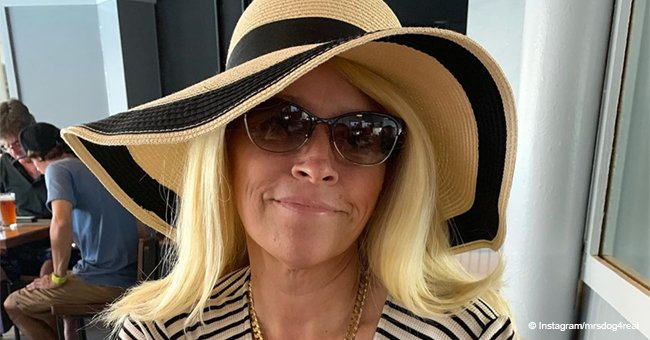 Beth Chapman looks radiant in an oversized hat, smiling despite her battle with cancer