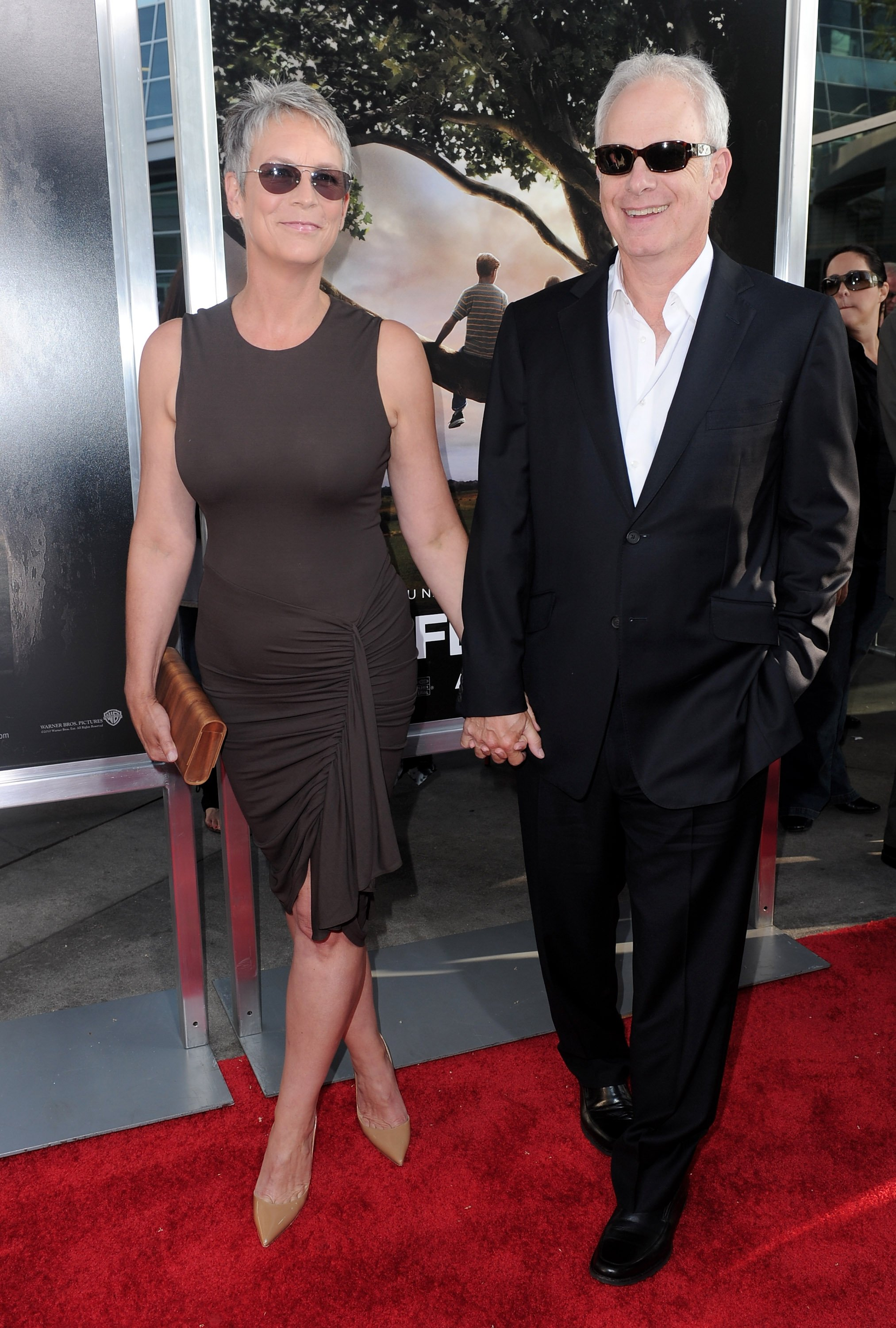 """Jamie Lee Curtis and Christopher Guest attends the premiere of """"Flipped"""" in Hollywood on July 26, 2010 