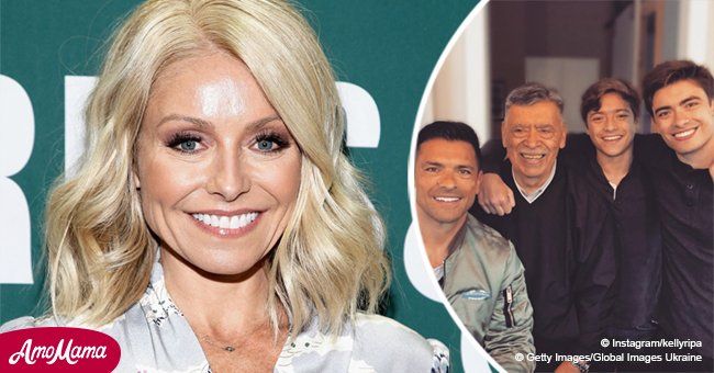 Kelly Ripa shares a rare photo of Mark Consuelos with father and sons - and they are all so similar