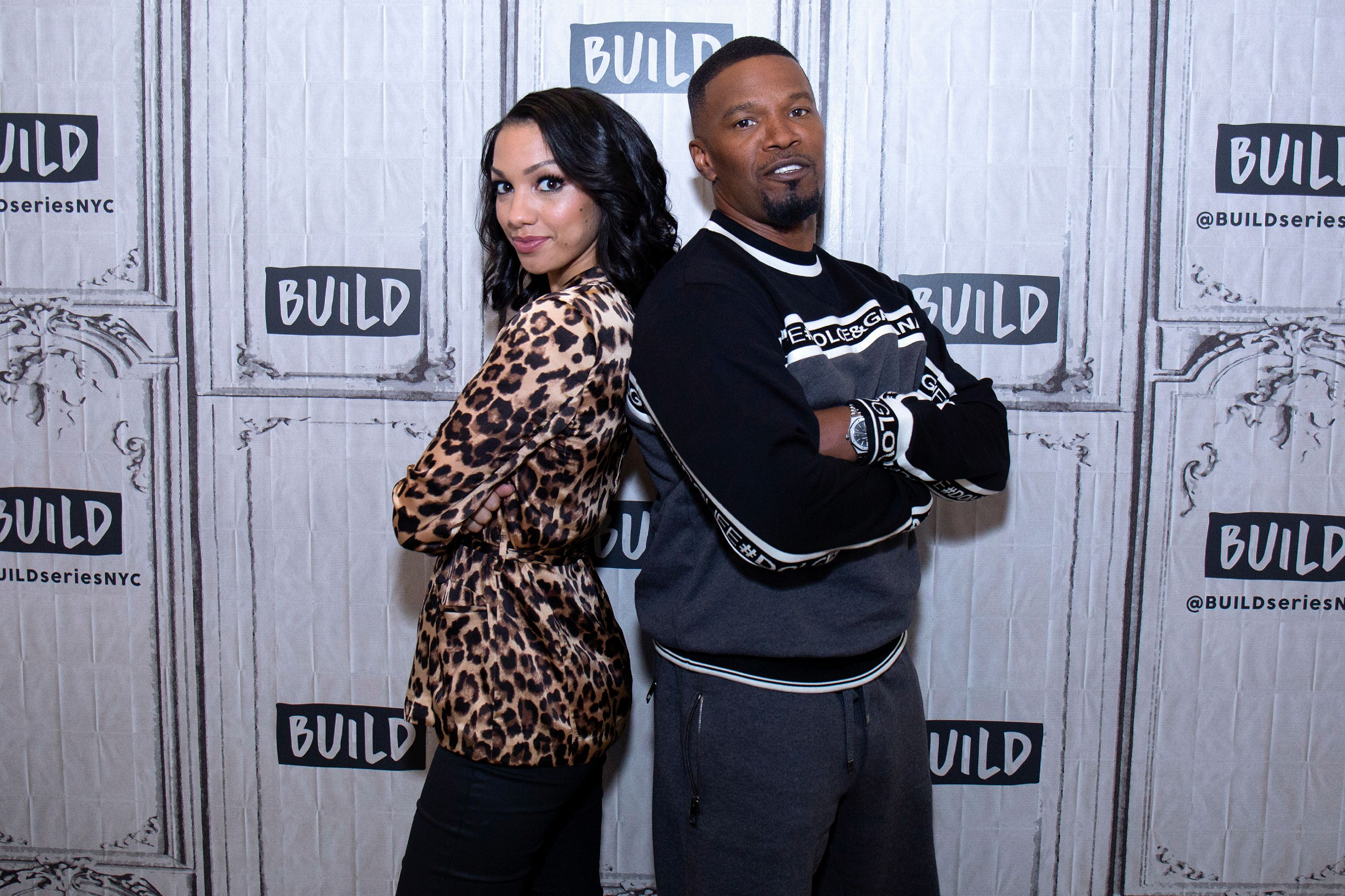Jamie and Corinne Foxx at AOL Build at Build Studio on May 15, 2018 | Photo: Getty Images