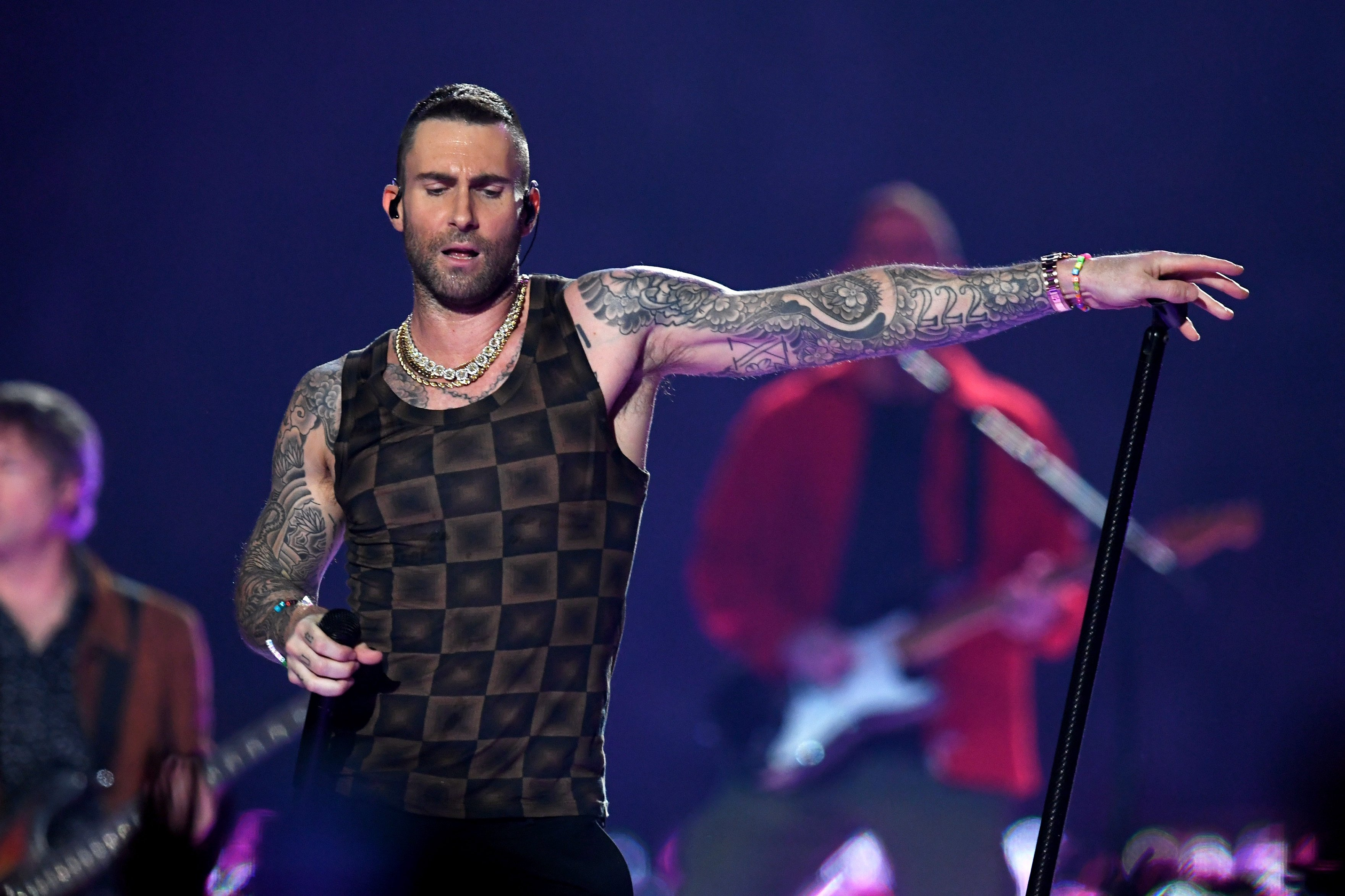 Adam Levine of Maroon 5 performing at the Super Bowl 2019 | Photo: Getty Images