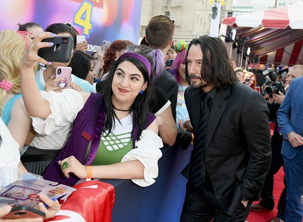 "Keanu Reeves at the premiere of Disney and Pixar's ""Toy Story 4"" on June 11, 2019 