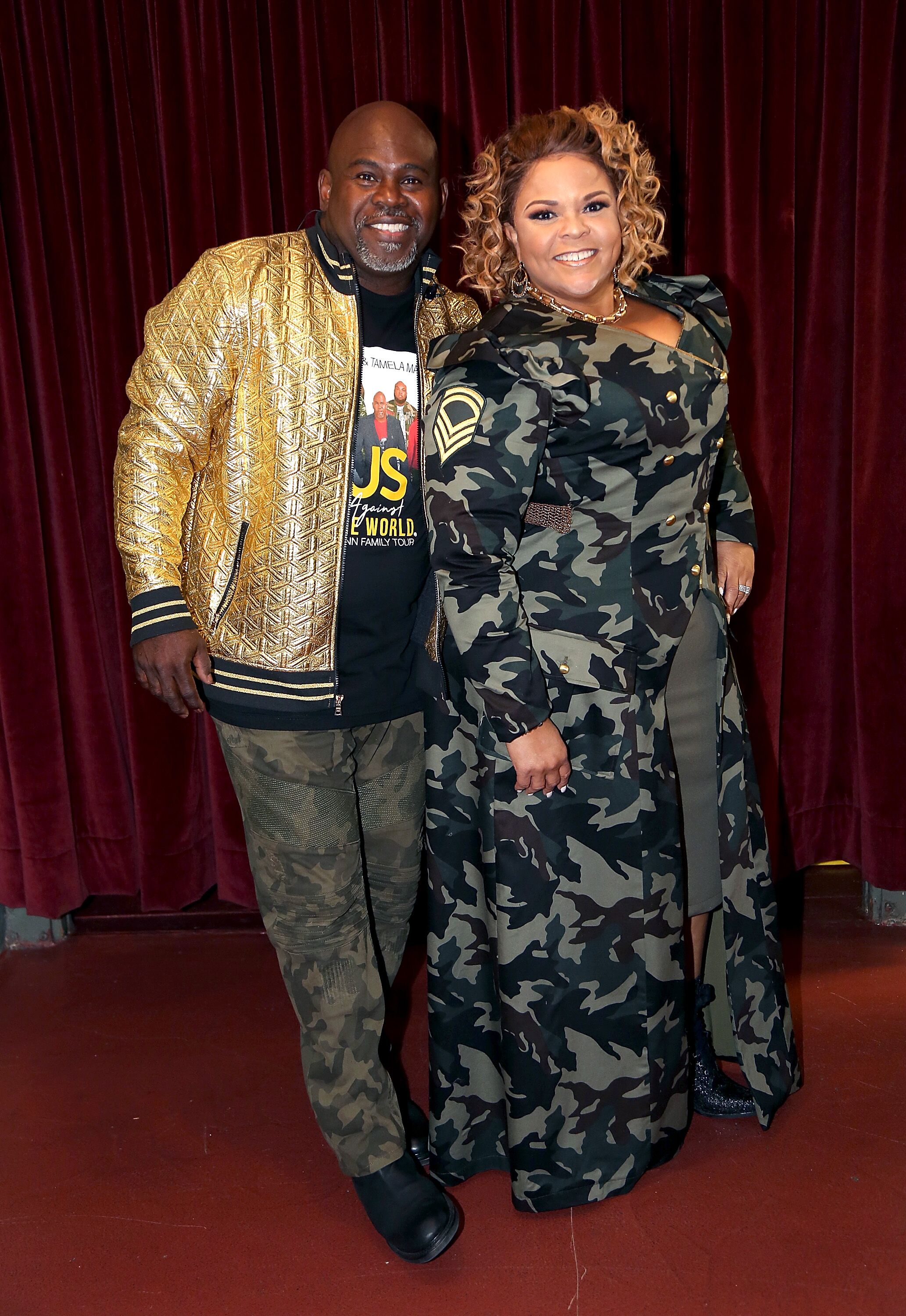 Tamela and David Mann backstage at one of their concerts | Source: Getty Images/GlobalImagesUkraine