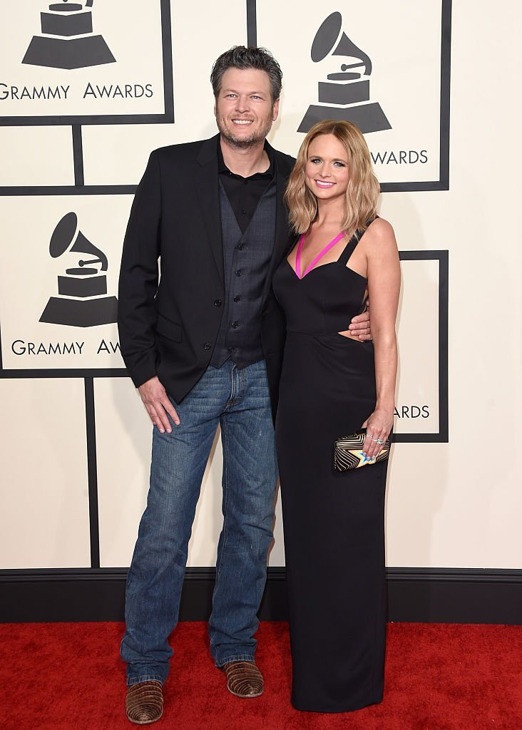 Blake Shelton  and Miranda Lambert attend The 57th Annual GRAMMY Awards at the STAPLES Center on February 8, 2015 | Photo: GettyImages