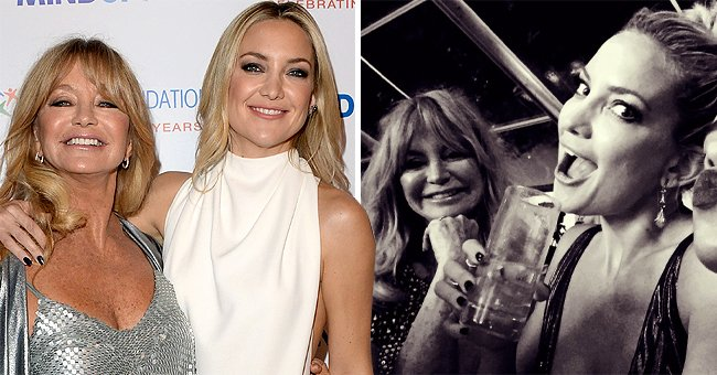 Kate Hudson Shares a Throwback Snap Rocking Out in London with Her Stunning Mom Goldie Hawn