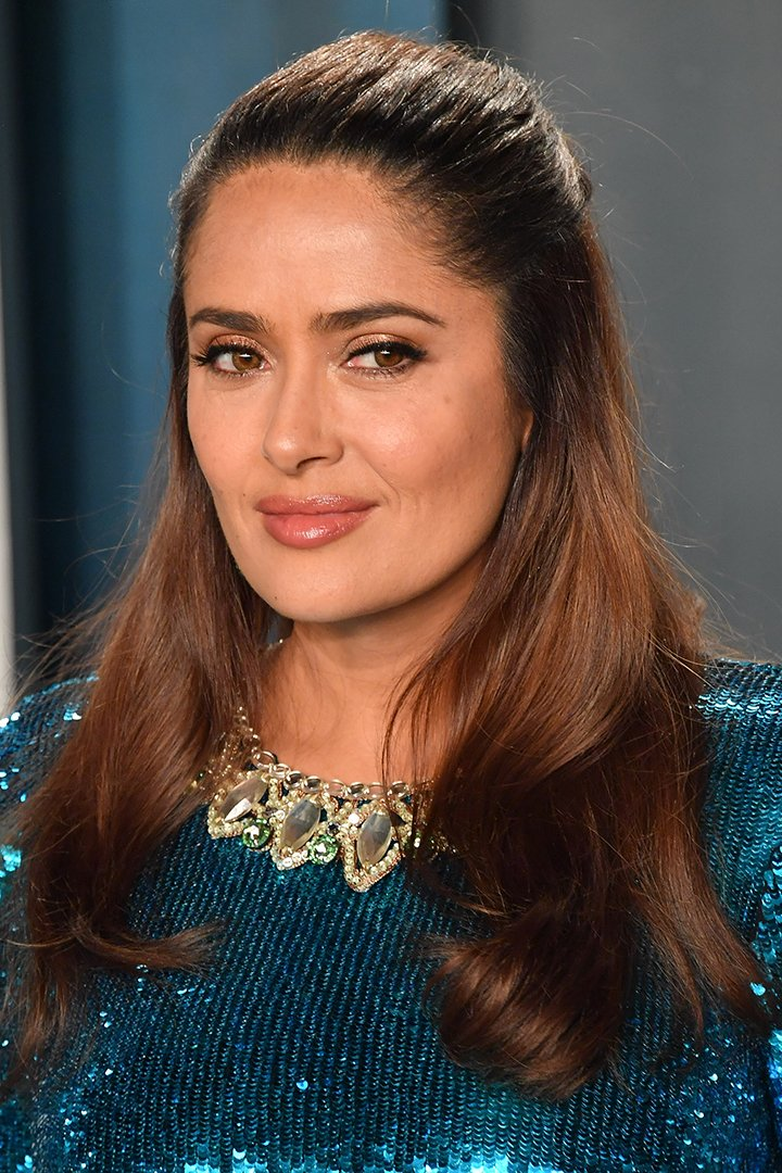 Salma Hayek attending the Vanity Fair Oscar Party at Wallis Annenberg Center for the Performing Arts in Beverly Hills, California in February 2020. I Image: Getty Images.