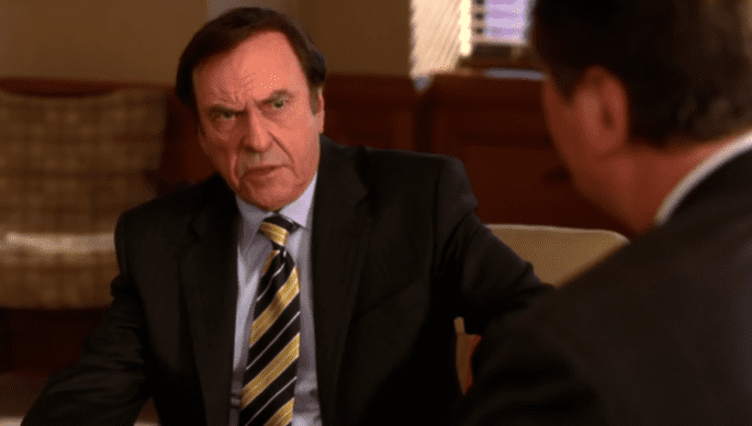 """Rip Torn as Don Geiss in """"30 Rock"""" between 2007 and 2008   Photo: YouTube/30 Rock Official"""