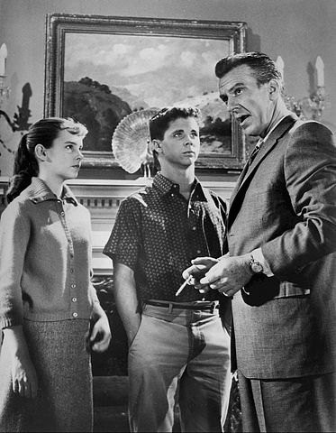 """Carol Sydes, Tony Dow and Hugh Beaumont from """"Leave It to Beaver"""" in 1960. 