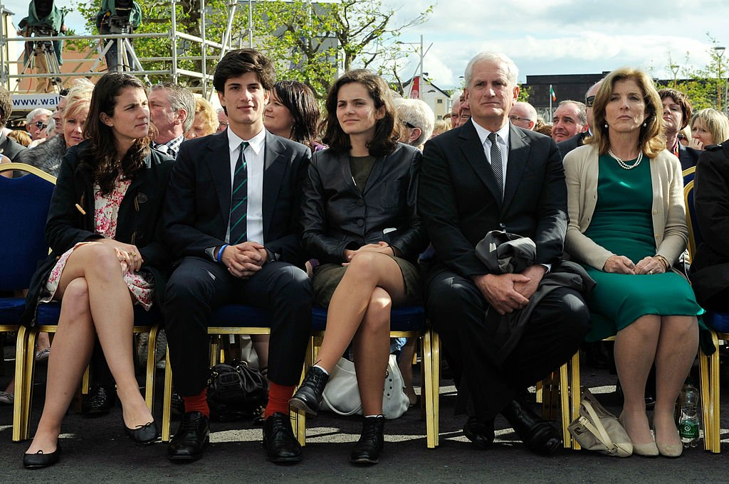 Tatiana, Jack, Rose, Edwin Schlossberg and Caroline Kennedy at the 50th anniversary ceremony of the visit by JFK, on June 22, 2013 in New Ross, Ireland   Source: Getty Images