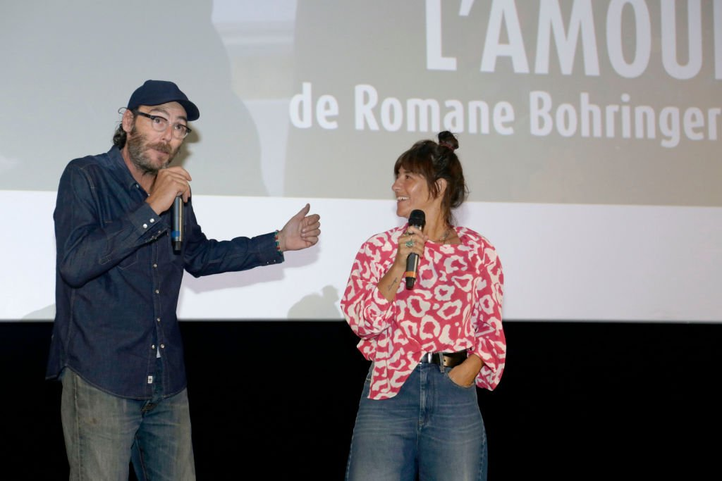 Philippe Rebbot et Romane Bohringer le 30 septembre 2018 à Saint Jean de Luz. | Photo : Getty Images