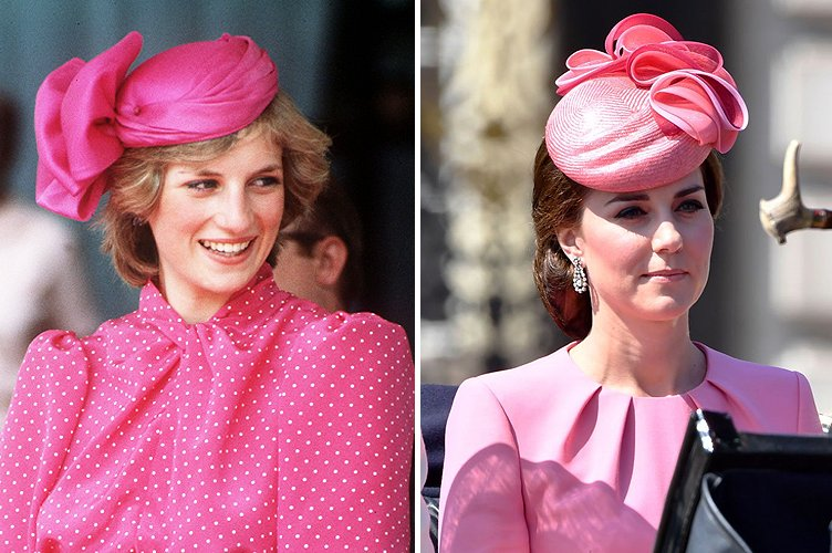Princess Diana in April 1983 and Duchess Kate Middleton in June 2017 | Photo: Getty Images
