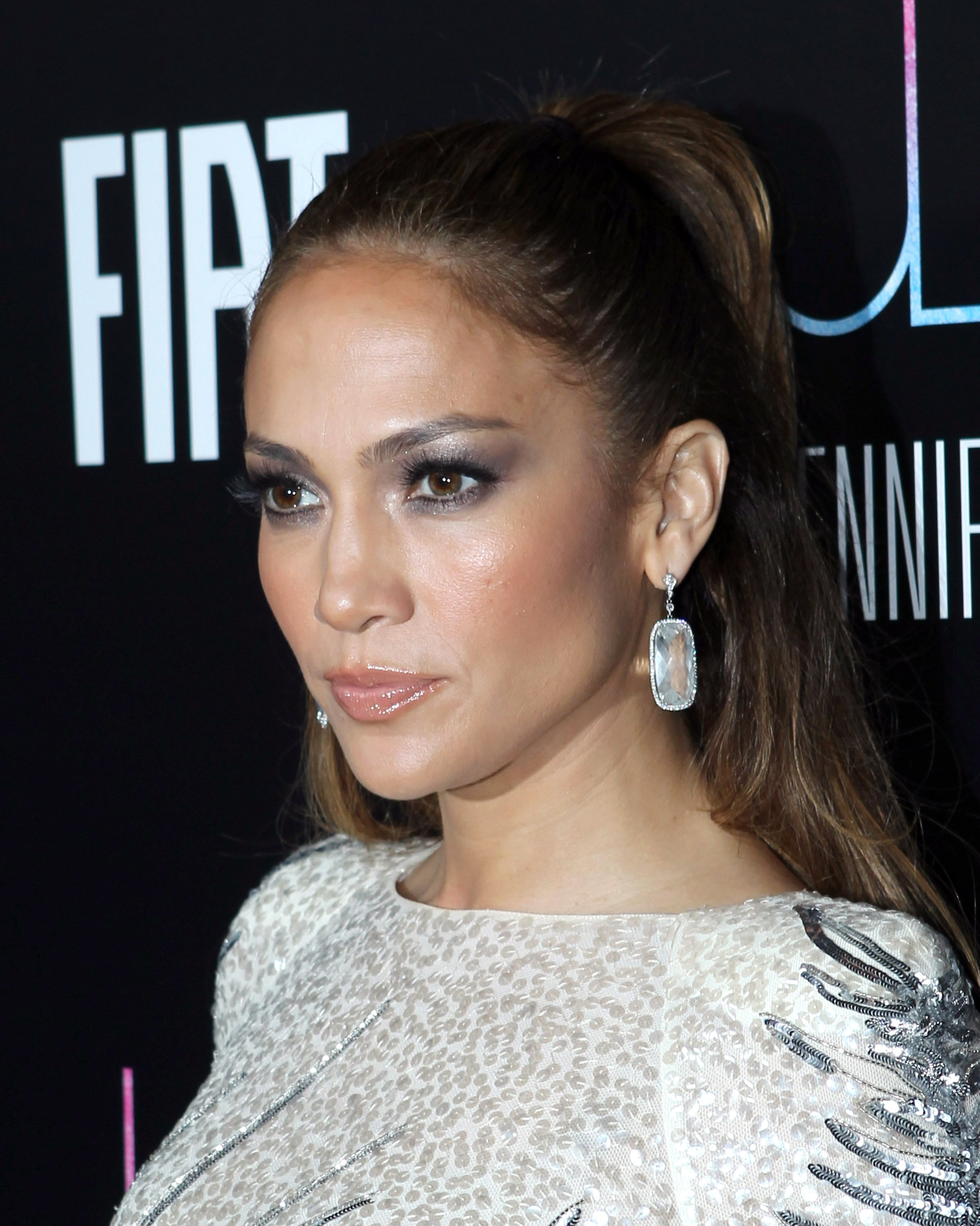 """Jennifer Lopez attends the """"Fiat Presents Jennifer Lopez Official American Music Awards"""" after party in West Hollywood, California. 