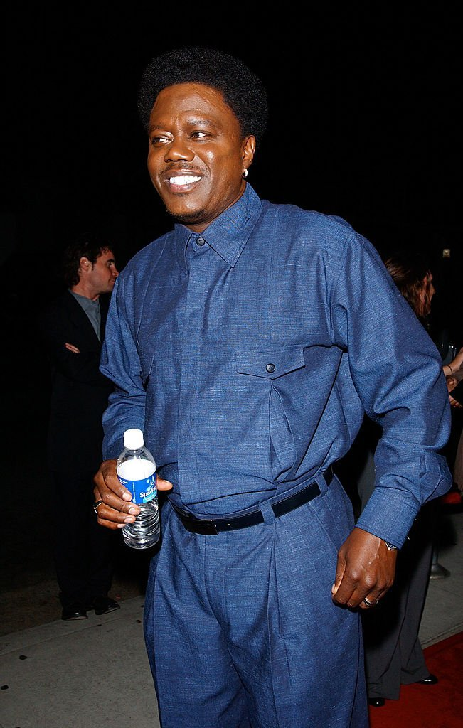 """Bernie Mac arrives at the """"Bernie Mac Show"""" season premiere party at Reign restaurant in Beverly Hills, Ca 