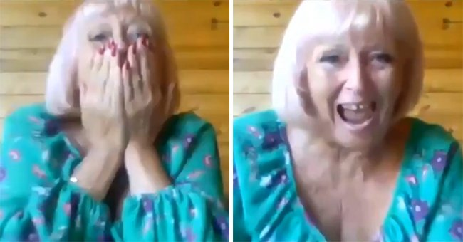Woman covers her mouth in disbelief as she reacts to the news that she has won the lottery   Photo: Twitter/BBCEssex