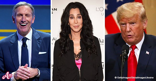 Cher slams Dem. Howard Schultz for considering a presidental run by comparing him to Trump