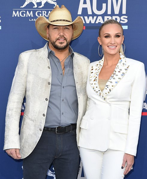 Jason Aldean and Brittany Aldean at MGM Grand Garden Arena on April 07, 2019 in Las Vegas, Nevada. | Photo: Getty Images