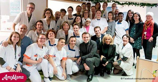 Emmanuel et Brigitte Macron ont visité des patients atteints de cancer: pourquoi leur photo ont causé une controverse