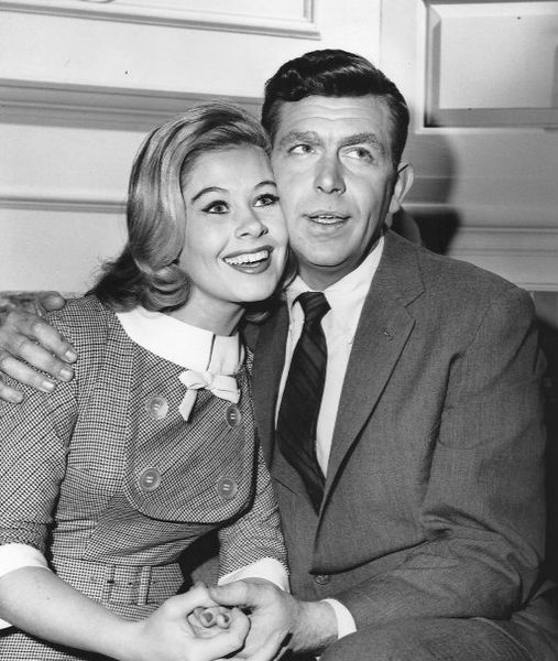 Andy Griffith and Sue Ane Langdon from the television program :The Andy Griffith Show.   Source: Wikimedia Commons