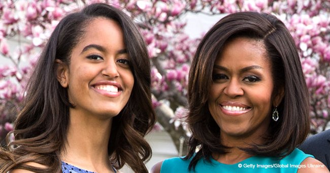 'We'd stress over ... the boys we crushed on' Michelle & Malia Obama compare high school years