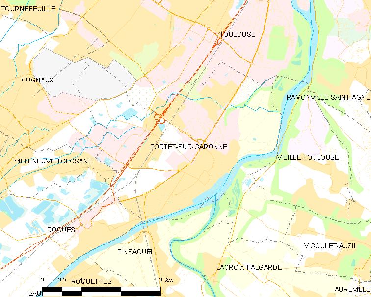 Map commune FR, Portet-sur-Garonne. | Wikimedia Commons