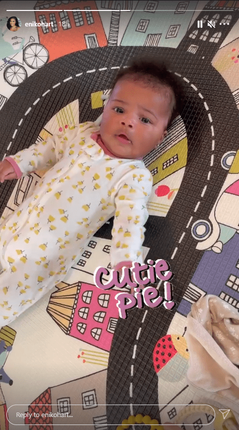 Eniko Hart shares a picture of her daughter Kaori with cute facial expression. | Photo: Instagram/Enikohart
